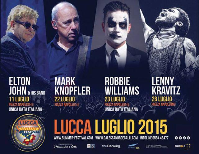 Lucca Summer Festival 2015 Cartellone