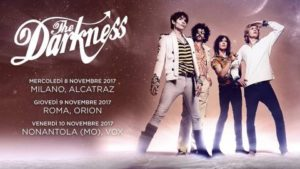 Darkness - 3 date in Italia