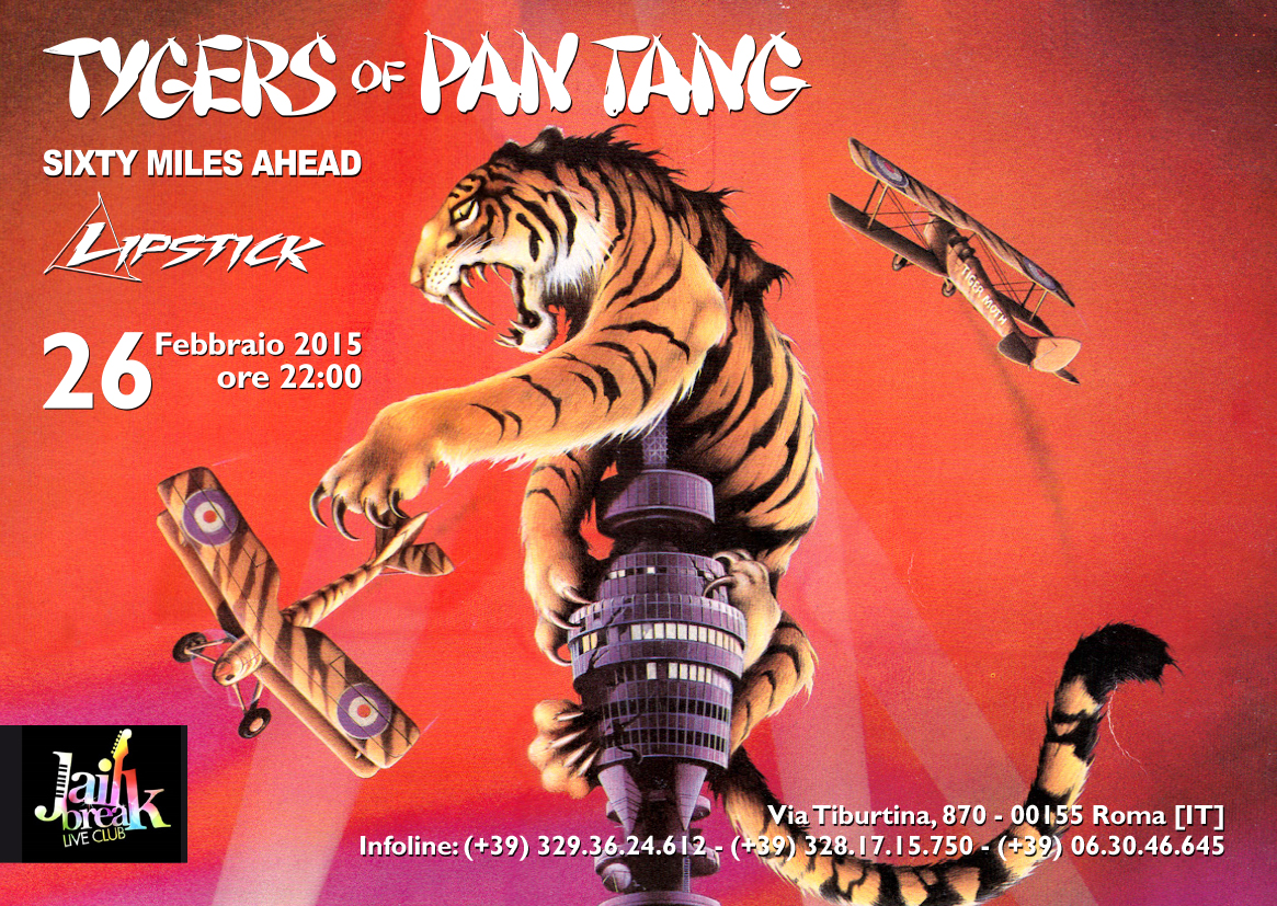 Tygers Of Pan Tang @ Jailbreak - 26 02 2015
