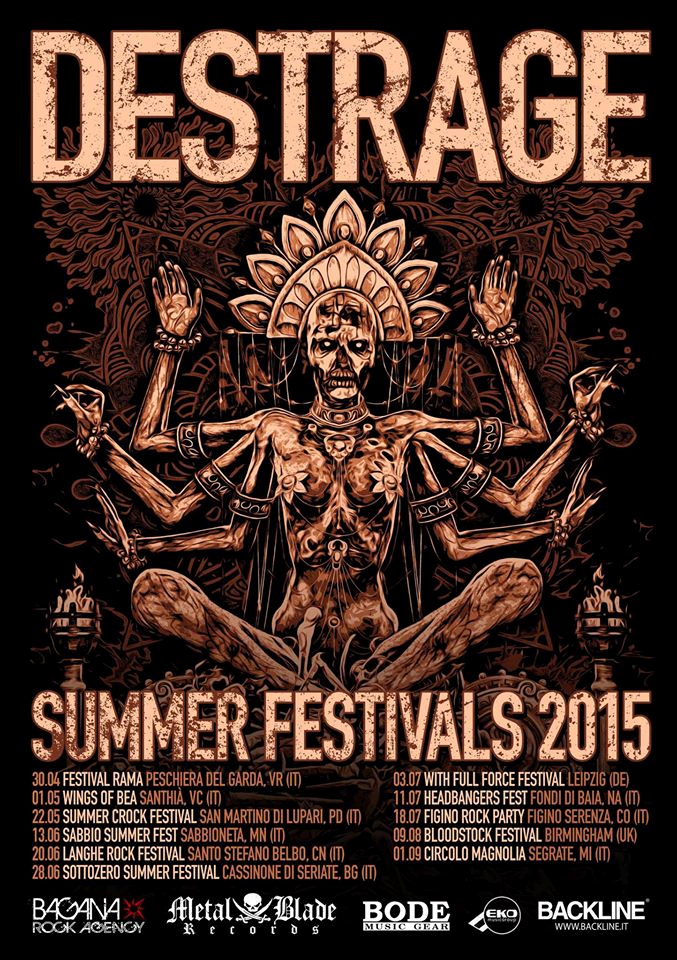 Destrage - Summer Festivals Tour 2015