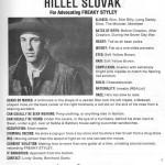 Hillel Slovak | 13 aprile 1962 – 25 giugno 1988