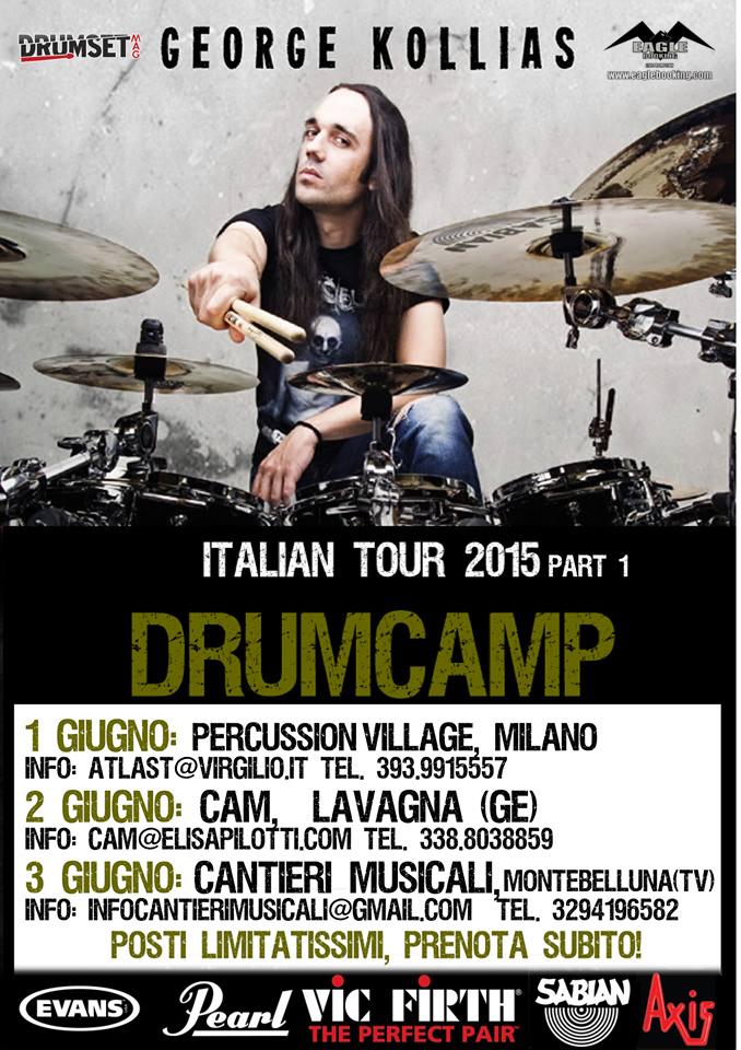 George Kollias: Drumcamp Italian Tour 2015