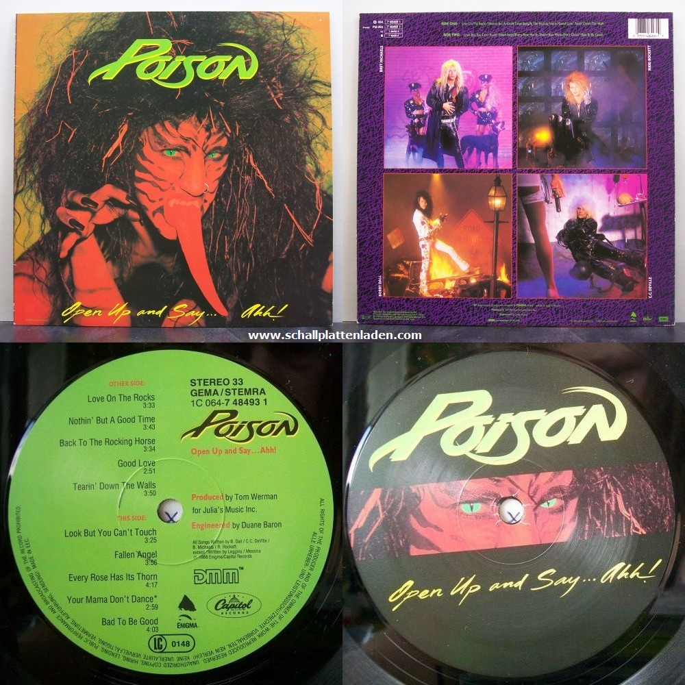 "3 maggio 1988 - esce ""Open Up and Say...Ahh!"" dei Poison"