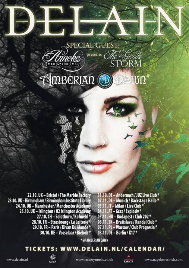 Amberian Dawn Tour w/ Delain