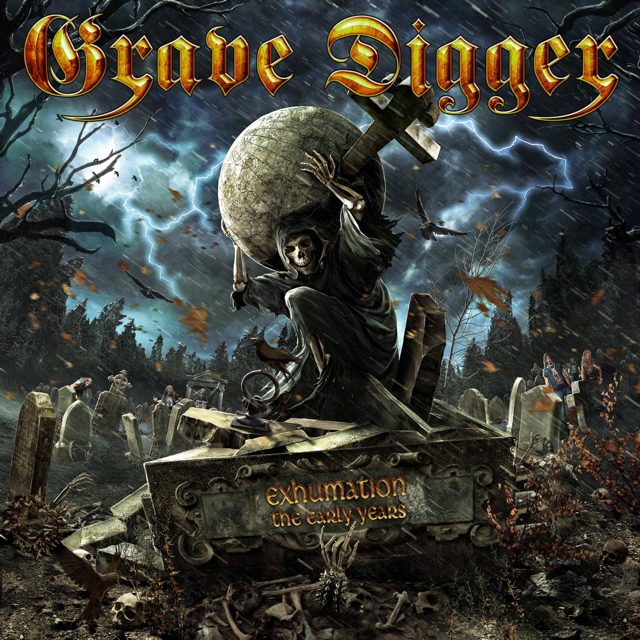 "Grave Digger - ""Exhumation – The Early Years"" Cover"