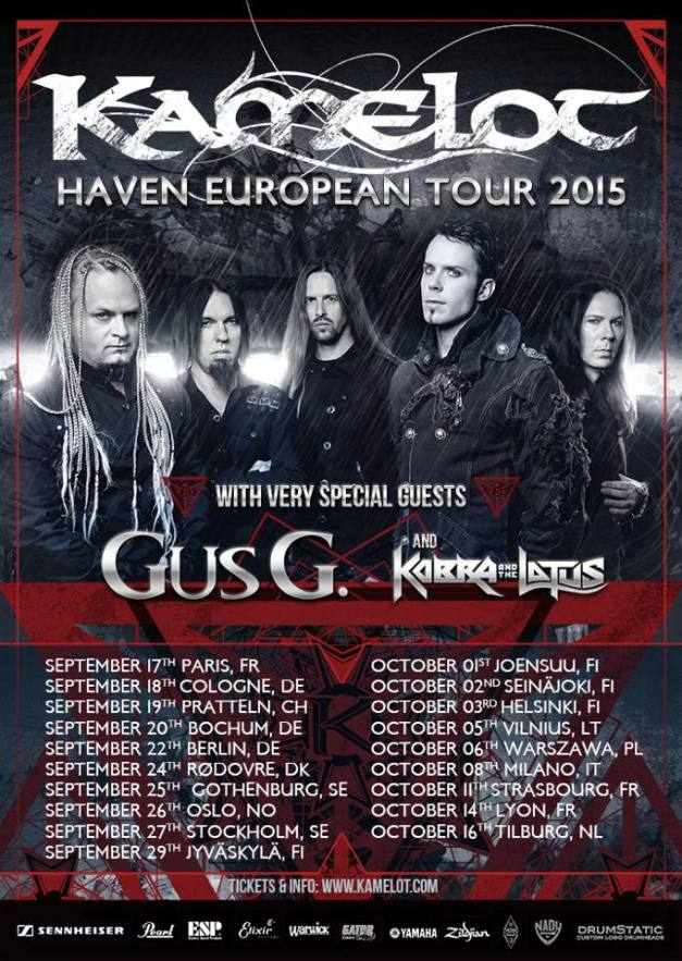 Gus G. + Kobra And The Lotus Opening per Kamelot @ Live Club - 08 10 2015