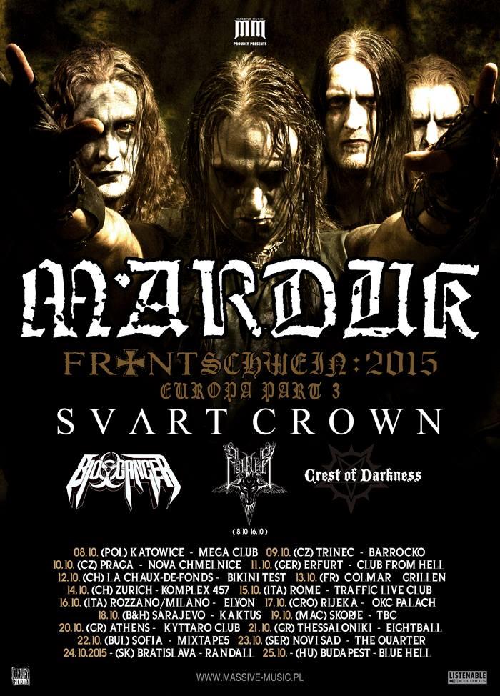 Marduk - Frontschwein European Tour 2015