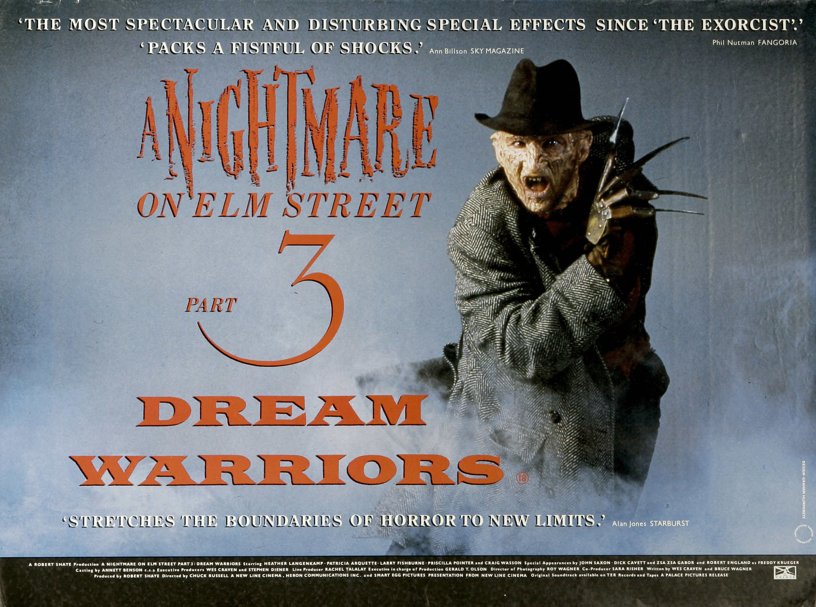 Nightmare On Elm Street 3 – Dream Warrios:  L'uomo nero si chiama Krueger