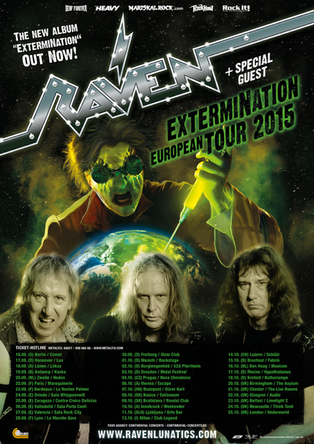 Raven - Extermination European Tour 2015