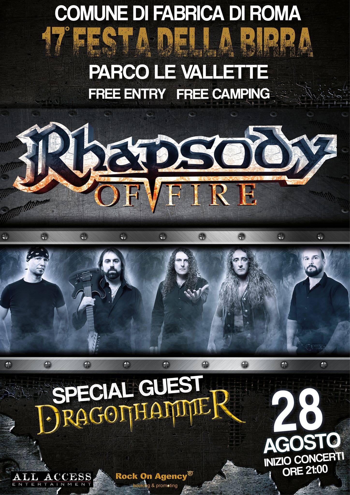 Rhapsody of Fire + Dragonhammer @ Festa della Birra - 17° edizione - 28 08 2015