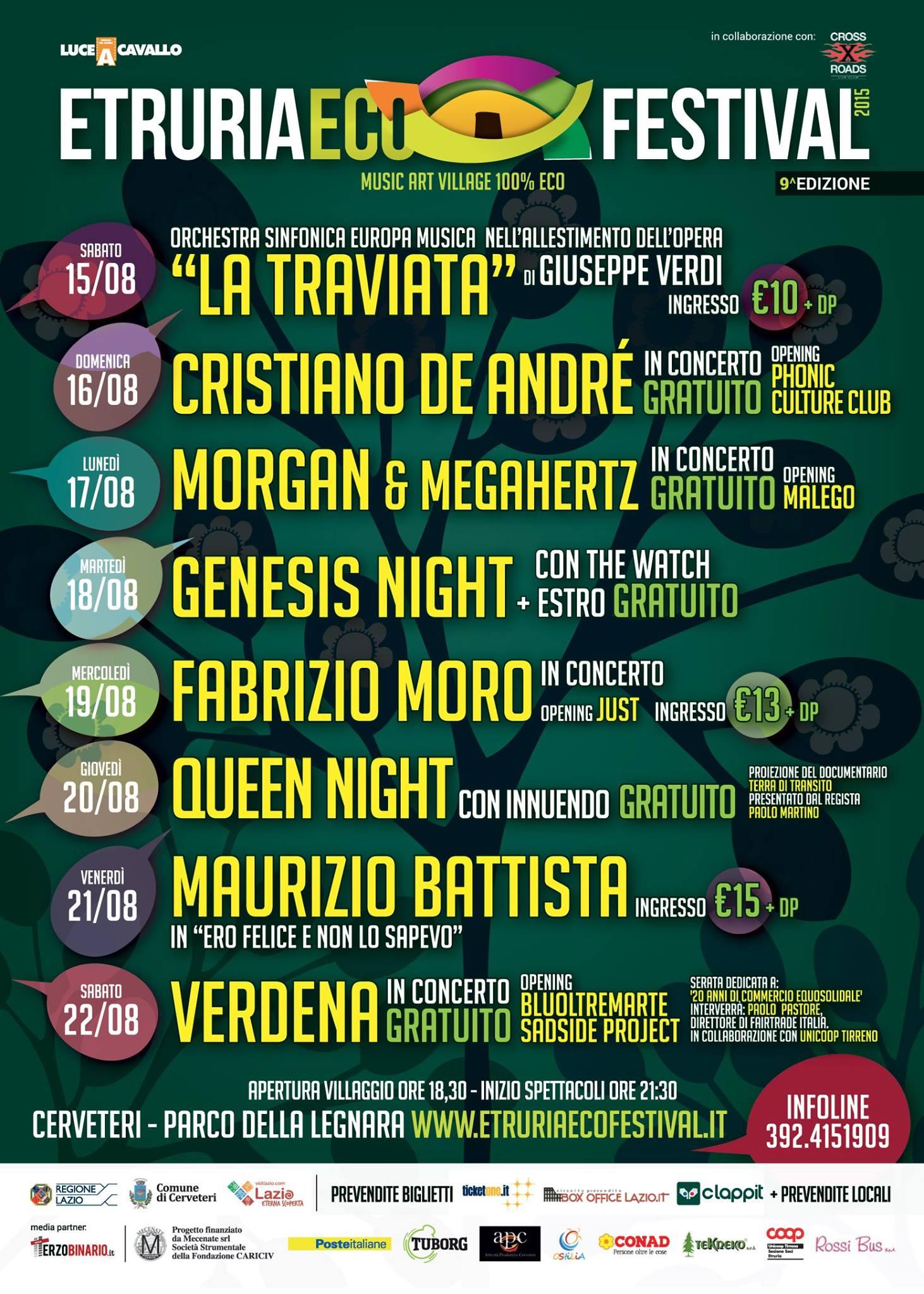Etruria Eco Festival 2015 - Programma