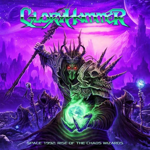 """Gloryhammer: """"Space 1992: Rise of the Chaos Wizards"""" Cover"""