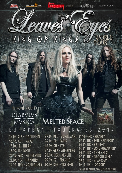 Leaves' Eyes Tour 2015