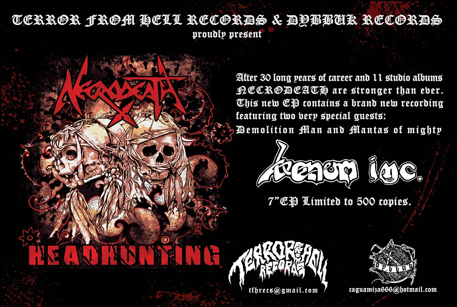 "Necrodeath - ""Headhunting Promo"" Cover"