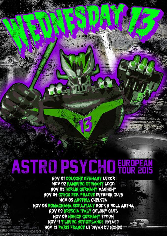"Wednesday 13 - ""Astro Psycho European Tour 2015"""