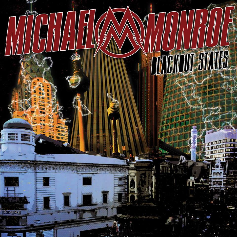 "Michael Monroe - "" Blackout States"" Cover"