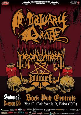 Mortuary Drape + Necromass live @ Centrale Rock Pub - 21 11 2015