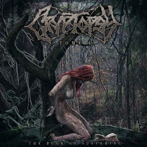 """Cryptopsy - """"The Book Of Suffering Tome 1"""" Cover"""