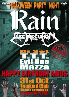 Rain + Electrocution @ Freakout Club - 31 10 2015