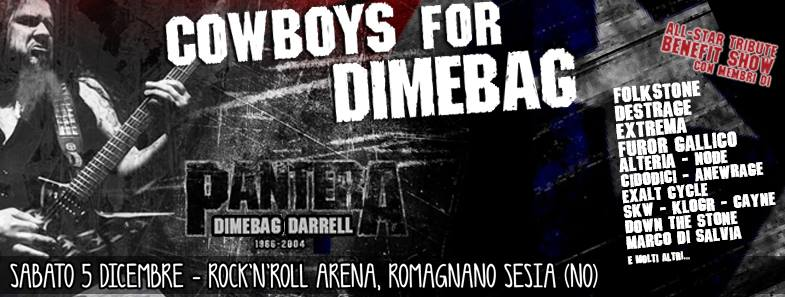 "COWBOYS for DIMEBAG - ""All Star Tribute BENEFIT SHOW"" @ Rock 'n' Roll Arena - 05 12 2015"