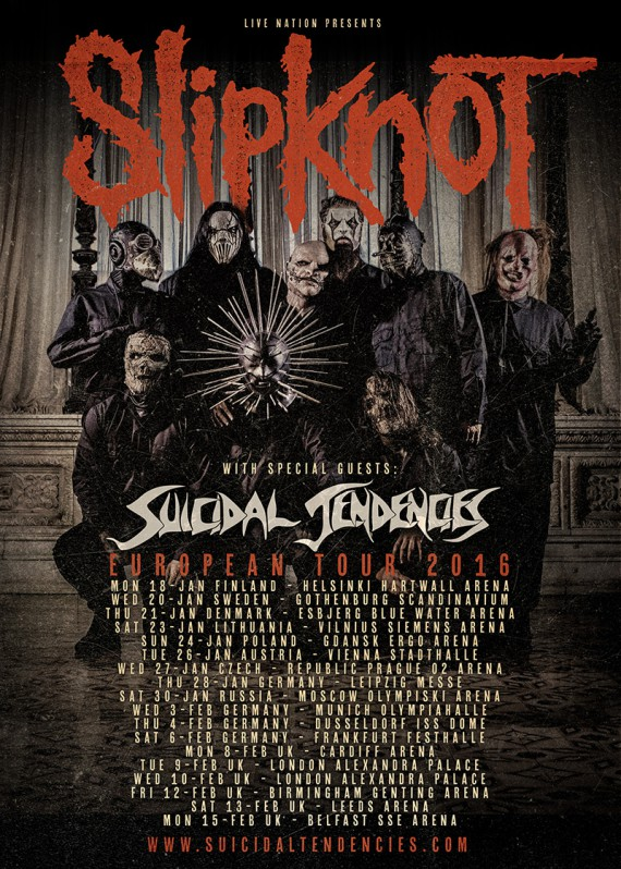 "Slipknot - ""European Tour 2016"" Promo"