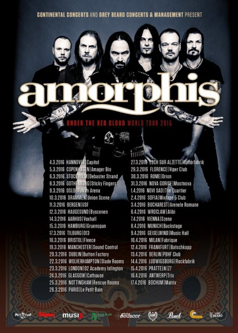 "Amorphis - ""Under The Red Cloud"" World Tour 2016 Promo"