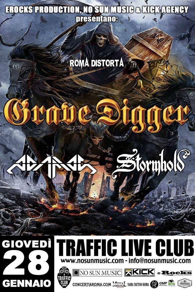 Grave Digger + Adamas + Stormhold @ Traffic - 28 01 2015