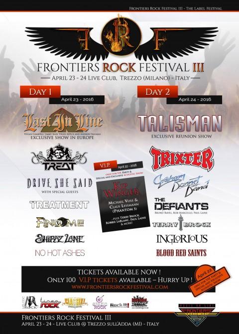 """Last In Line - Talisman - """"Frontiers Rock Festival"""" 2016 Promo"""