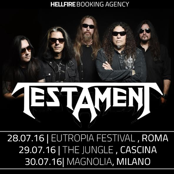 Testament Italian Tour 2016 Promo