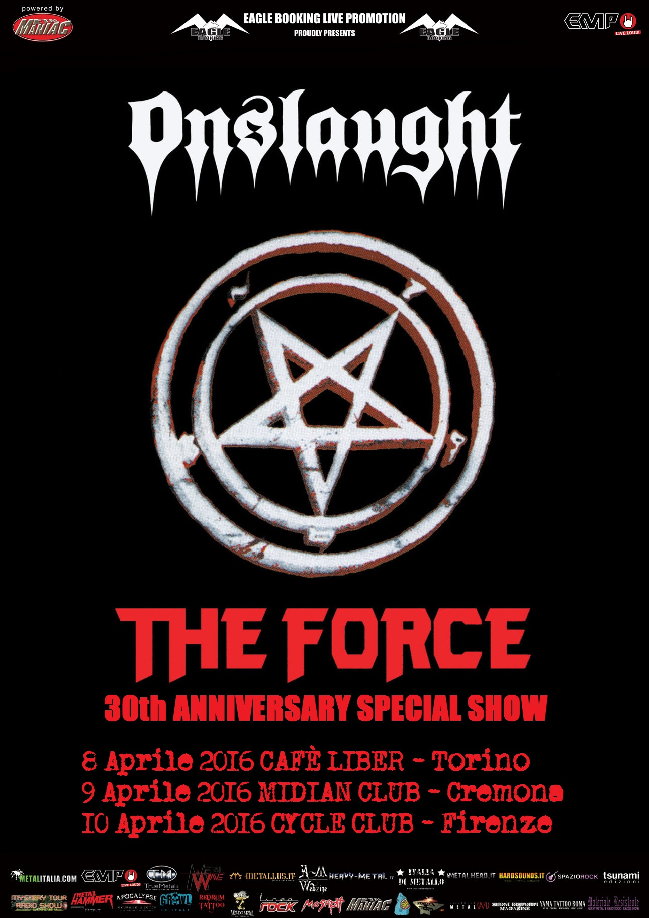 Onslaught in Italia - 30th Anniversary Special Show 52016 Promo