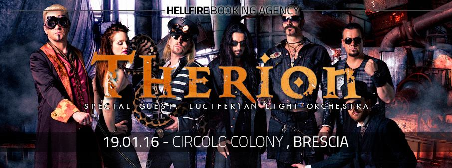 Therion in Italia + Luciferian Light Orchestra + Ego Fall + Imperial Age @ Circolo Colony - 19 01 2016