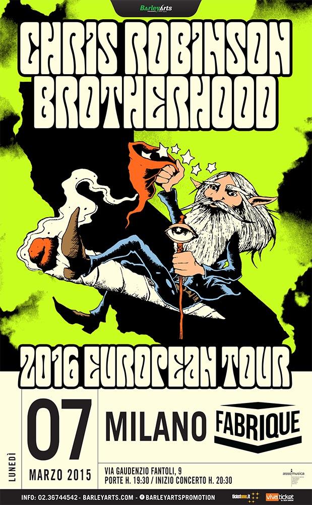 Chris Robinson Brotherhood a Milano - European Tour 2016 Promo