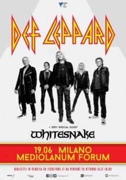 Def Leppard + Whitesnake @ Milano @ Mediolanum Forum