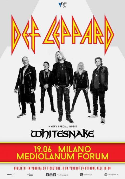 Def Leppard - Whitesnake - Mediolanum Forum - Tour 2019 - Promo