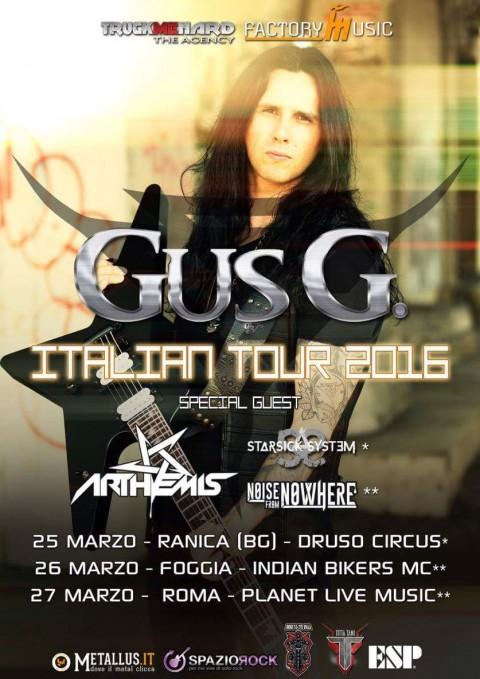 Gus G in Italia + Starsick System + Arthemis + Noise From Nowhere - Italian Tour 2016 Promo