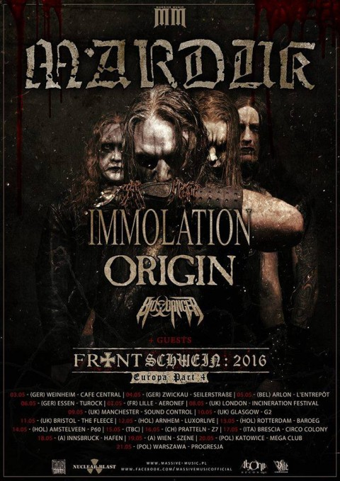 Marduk in Italia con Immolation - Origin - Bio Cancer @ Circolo Colony 2016