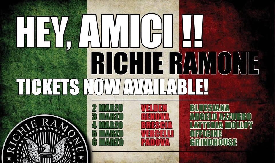 Richie Ramone in Italia 2016 Promo