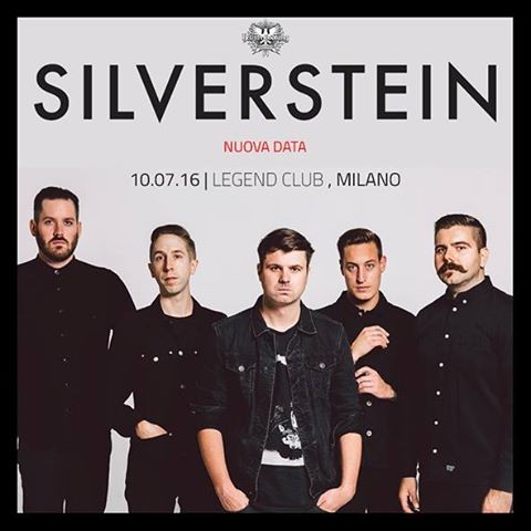 Silverstein in Italia @ Legend Club 2016