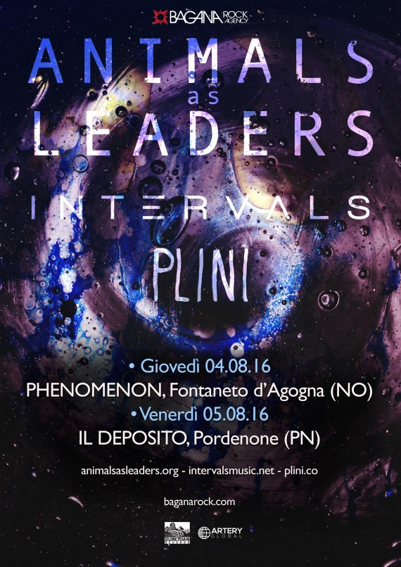 Animals As Leaders in Italia + Intervals + Plini @ Phenomenon - Il Depsito 2016 Promo