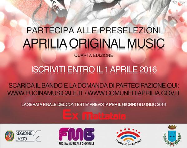 Aprilia Original Music 2016 - Il Bando di Iscrizione