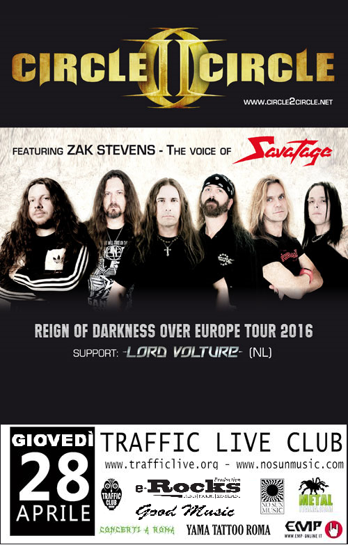 Circle ii Circle a Roma + Lord Vulture @ Traffic Live Club - Reign Of Darkness Over Europe Tour 2016 Promo