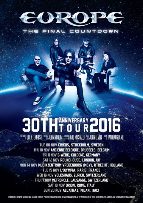 Europe in Italia - The Final Countdown - 30 Th Anniversary Tour 2016 Promo