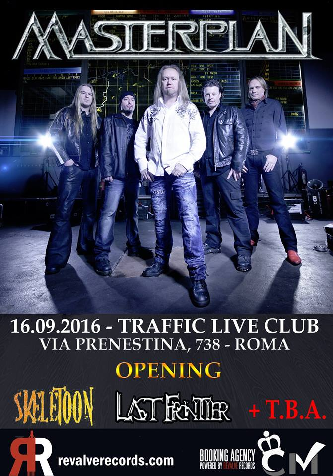 Masterplan a Roma + Skeletoon + Last Frontier @ Traffic Live Club - 16 09 2016