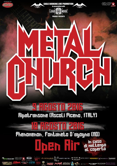 Metal Church in Italia per l'European Tour 2016 Promo