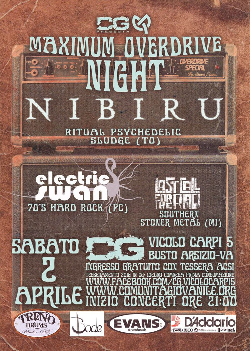 Nibiru a Busto Arsizio - Electric Swan - Last Call For The Road - Comunità Giovanile 2016 Promo