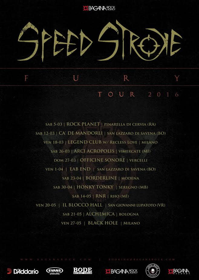 Speed Stroke - Fury Tour 2016 Promo