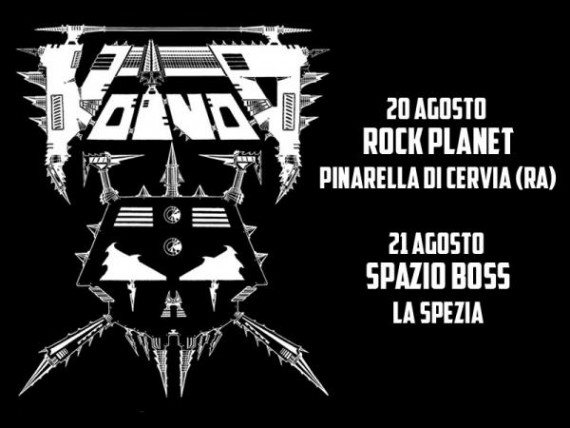 Voivod in Italia @ Rock Planet e Spazio Boss - Tour 2016 Promo