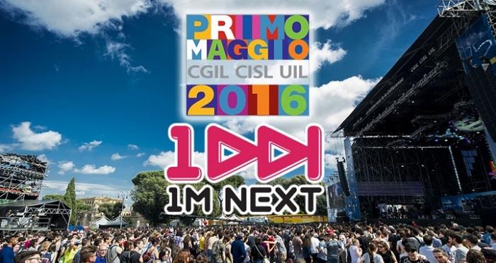 1M NEXT 2016, contest per il concerto del 1° maggio