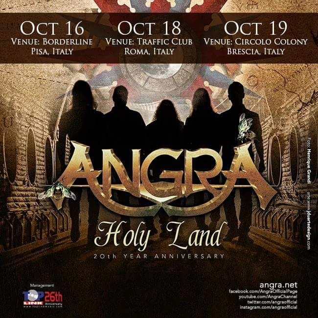 Angra in Italia - Holy Land 20 Years - Traffic - Circolo Colony 2016