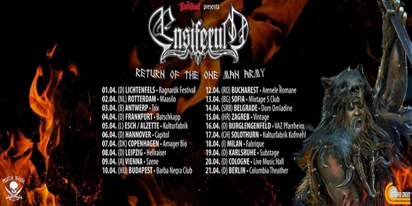 Ensiferum @ Fabrique - The Return Of The Man Army Tour 2016 Promo